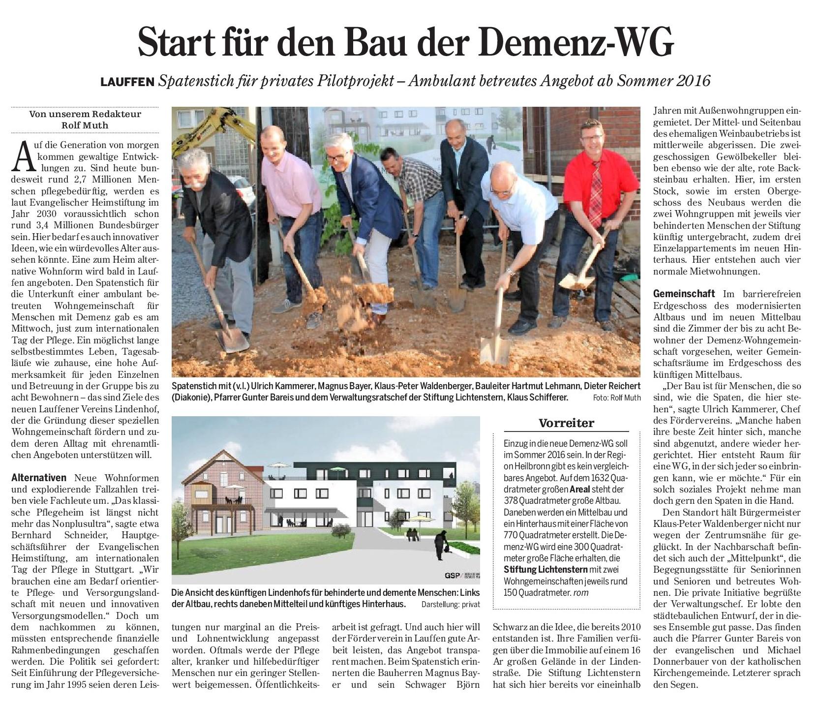 2015-05-16_Start für den Bau der Demenz-WG (Spatenstich)
