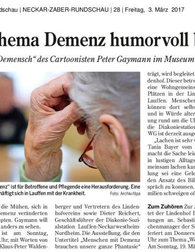 2017-03-03_Demensch Ausstellung_Ernstes Thema Demenz humorvoll